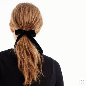 BEST!! NWT J.Crew Velvet Hair Tie - Black